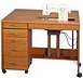 image of Quilting / Embroidery / Sewing Table with Electric Lift, and 1 Drawer. RM/WH/SC. Opening 24