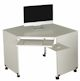 image of Deluxe Computer Corner Table with mouse tray, RM & WH
