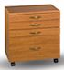 image of 3 Small Drawers, 1 Large Drawer, <b>Stackable</b>, RM-SC-WH