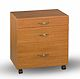 image of 1 small drawer, 1 medium  drawer, 1 large drawer, stackable. RM/WH/SC