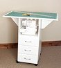 image of 3 Drawer Cutting/Craft Table in White