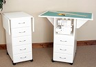 image of 5 Drawer Cutting/Craft Table in White