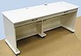 image of For Store Display or Work Table, 2 drawers, Contour Laminated Top and Bottom, RM-SC-WH